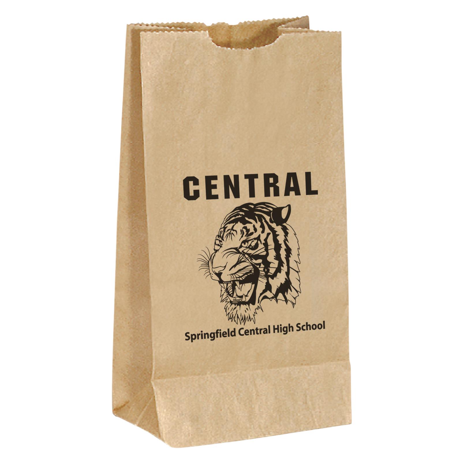 Brown Popcorn Bag