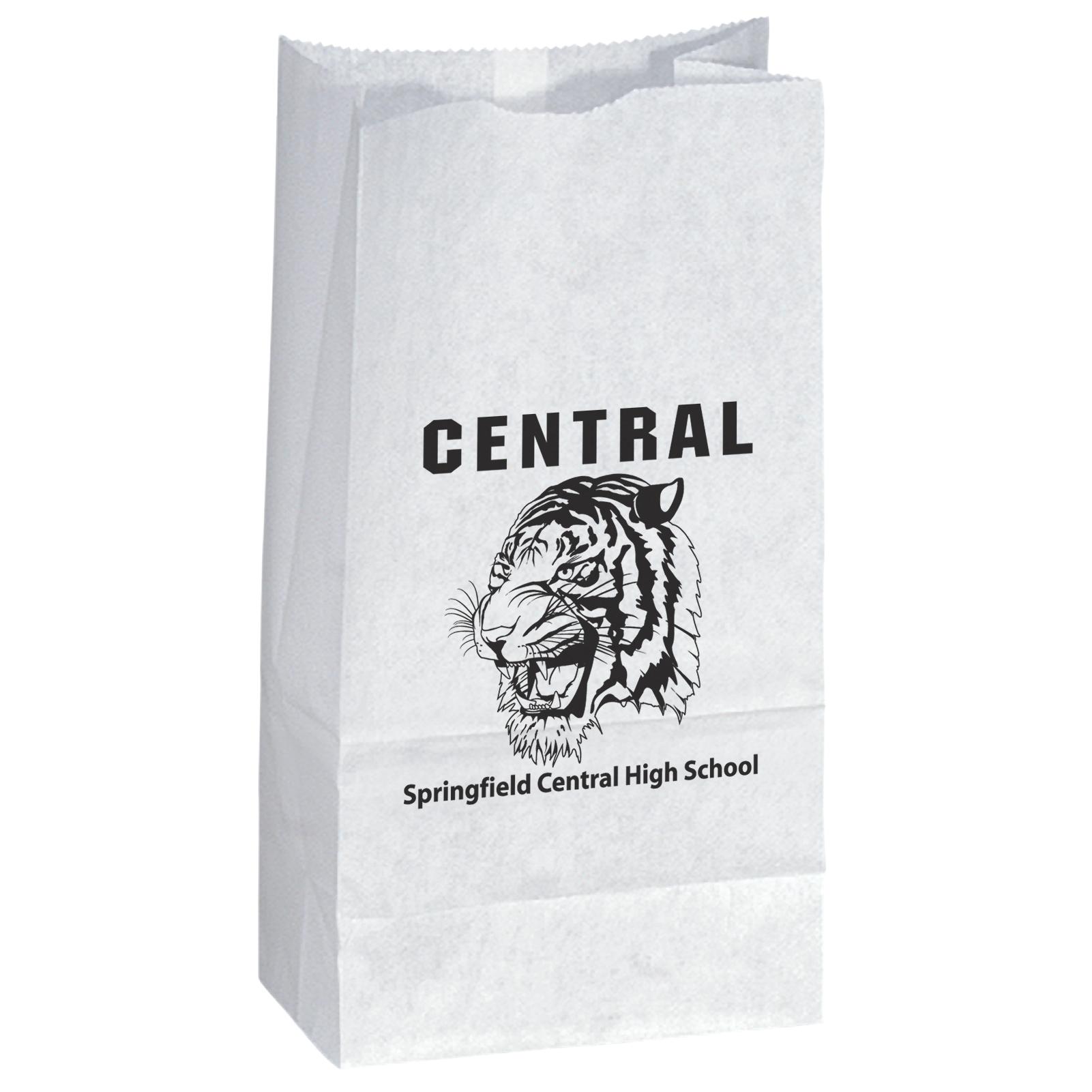 White Popcorn Bag