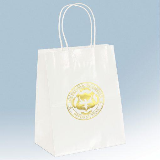 Amanda Gloss Shopper Bag (White)