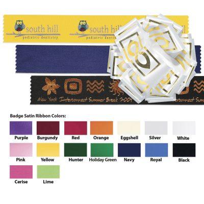 "Badge Satin Ribbon (1 1/2"") (Foil Print)"