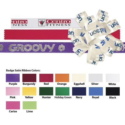 "Badge Satin Ribbon (5/8"") (Foil Print)"