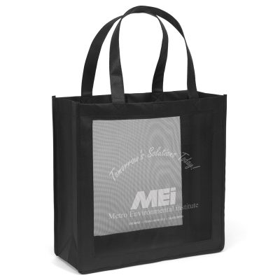 Crowne Mesh Panel Tote Bag (Screen Print)