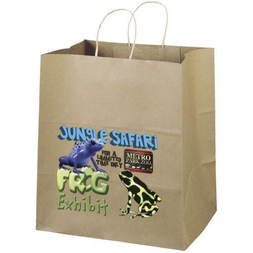Eco Brute Kraft-Brown Shoppers Bag (ColorVista)