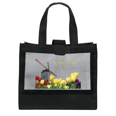 Grandé Mesh Panel Tote Bag (ColorVista)