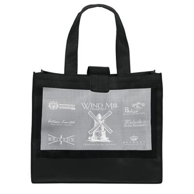 Grandé Mesh Panel Tote Bag (Screen Print)