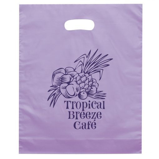 Orchid Frosted Brite Die Cut Handle Bag