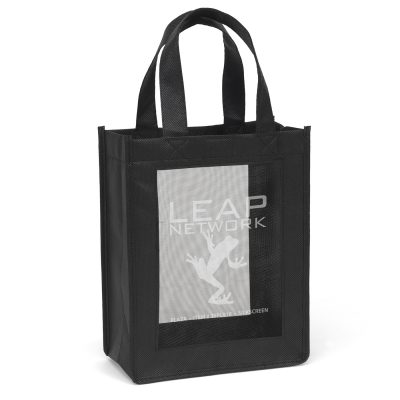 Plaza Mesh Panel Tote Bag (Screen Print)