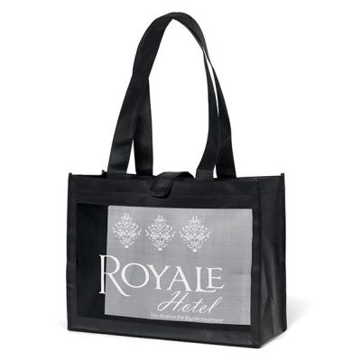 Royale Mesh Panel Tote Bag (Screen Print)