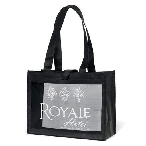 Royale Mesh Panel Tote Bag (Screen Print)