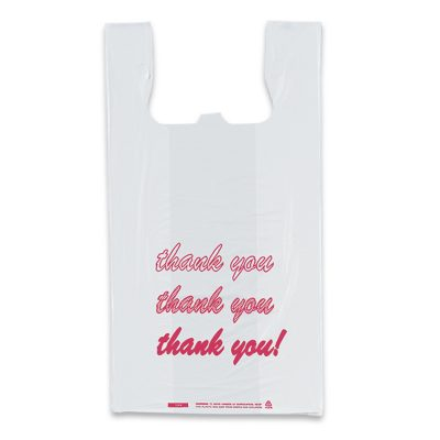 """Thank You"" T-Shirt Style Stock Bag"