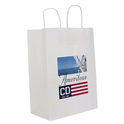 White Fort Sealable Paper Shoppers (ColorVista)