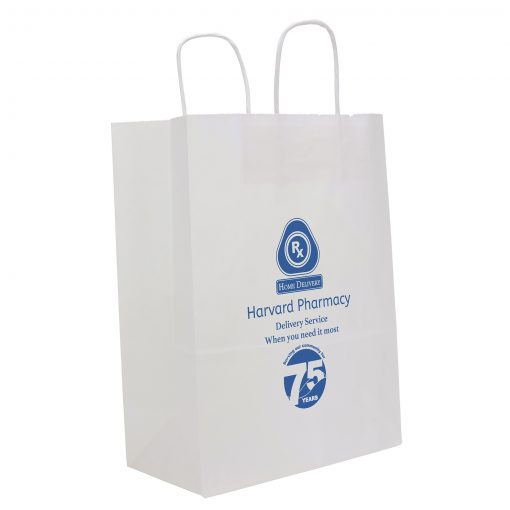 White Fort Sealable Paper Shoppers (Flex Ink)