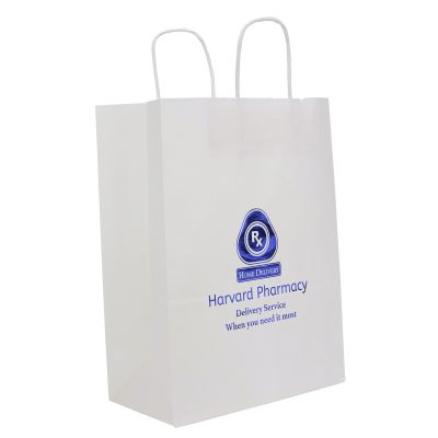 White Fort Sealable Paper Shoppers (Foil)
