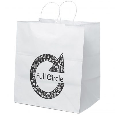 Brute White Shoppers Bag (Flexo Ink)