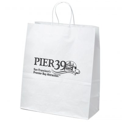 Citation White Shoppers Bag (Flexo Ink)