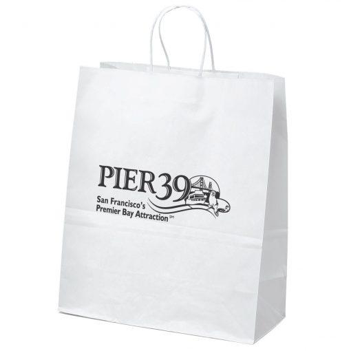 Citation White Shoppers Bag (Flexo Ink)