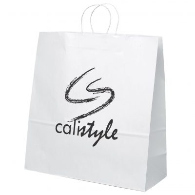 Duke White Shoppers Bag (Flexo Ink)