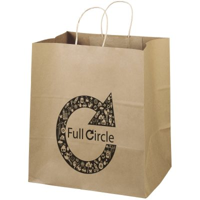 Eco Brute Kraft-Brown Shoppers Bag (Flexo Ink)