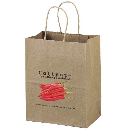 Eco Mini Kraft-Brown Shoppers Bag (ColorVista)