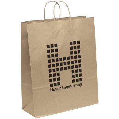 Eco Stephanie Kraft-Brown Shoppers Bag (Flexo Ink)