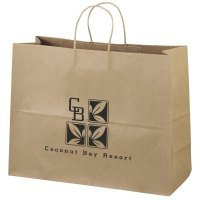 Eco Vogue Kraft-Brown Shoppers Bag (Flexo Ink)