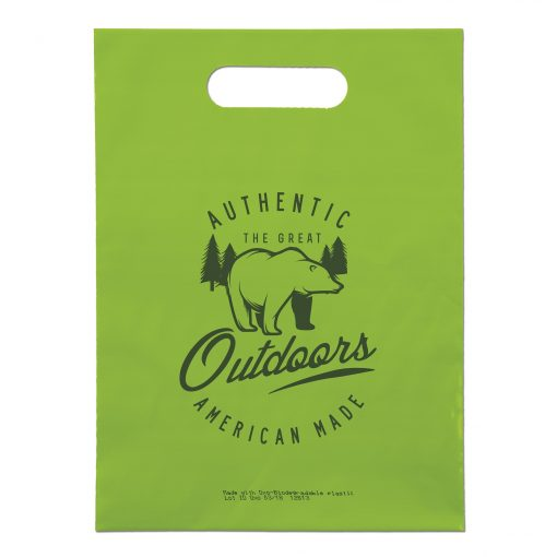 "Oxo-Biodegradable Die Cut Bag (9""x12"")"