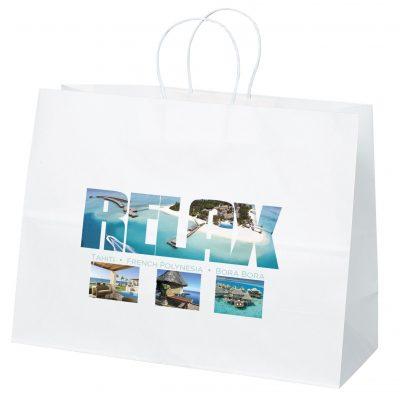 Vogue White Shoppers Bag (ColorVista)