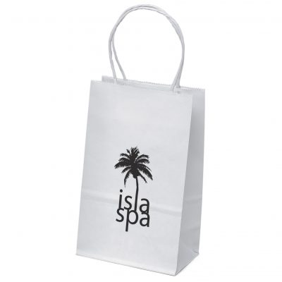 White Pup White Shoppers Bag (Flexo Ink)