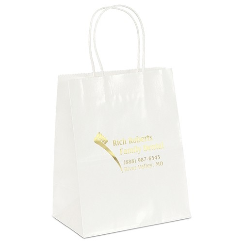 Amanda™ Gloss Shopper Bag (White)