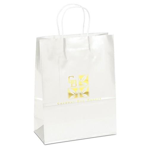Aubrie™ Gloss Shopper Bag (White)