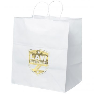 Brute White Shopper Bag (Foil)
