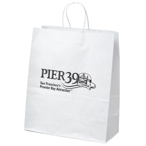 Citation White Shopper Bag (Flexo Ink)