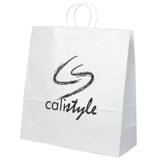 Duke White Shopper Bag (Flexo Ink)