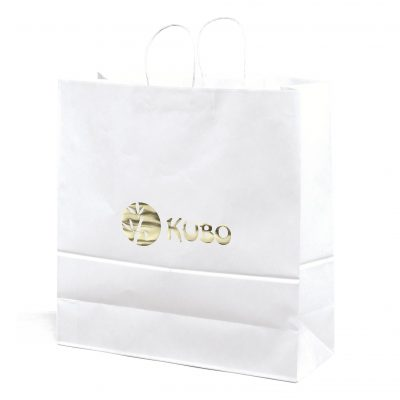 Duke White Shopper Bag (Foil)