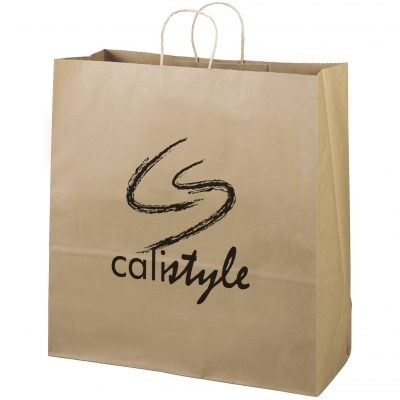 Eco Duke Kraft-Brown Shopper Bag (Flexo Ink)