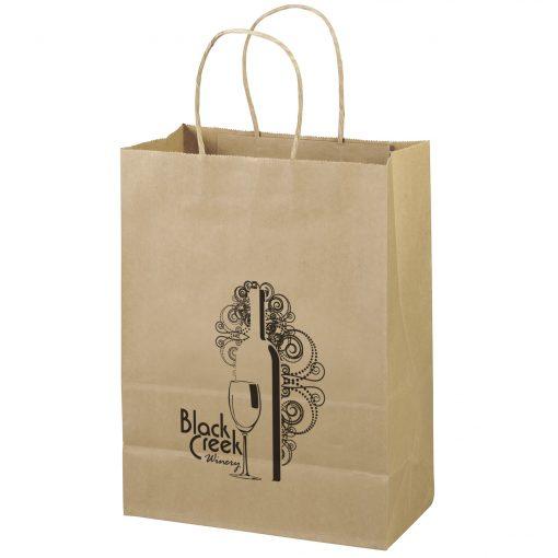 Eco Jenny Kraft-Brown Shopper Bag (Flex Ink)
