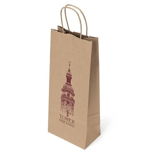 Eco Vino Paper Shopper Bag (Flex Ink)