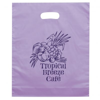 Orchid™ Frosted Brite Die Cut Handle Bag (Flexo Ink)