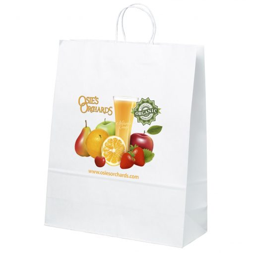 Stephanie White Shopper Bag (ColorVista)