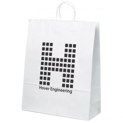 Stephanie White Shopper Bag (Flexo Ink)