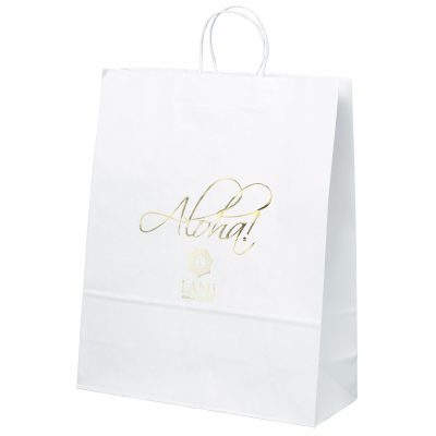 Stephanie White Shopper Bag (Foil)