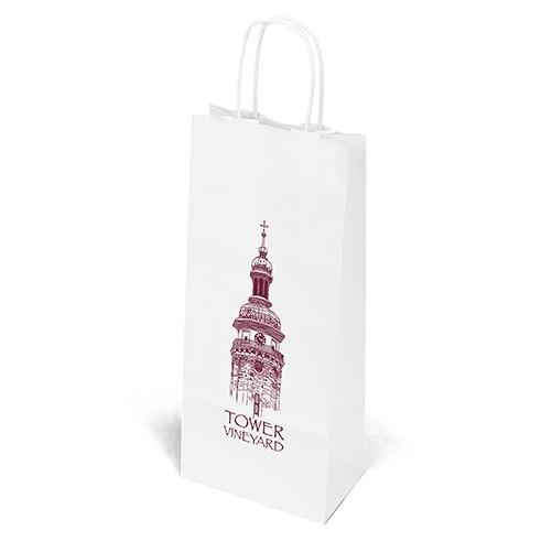 Vino White Shopper Bag (Flexo Ink)