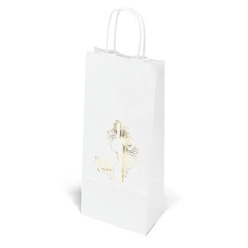 Vino White Shopper Bag (Foil)