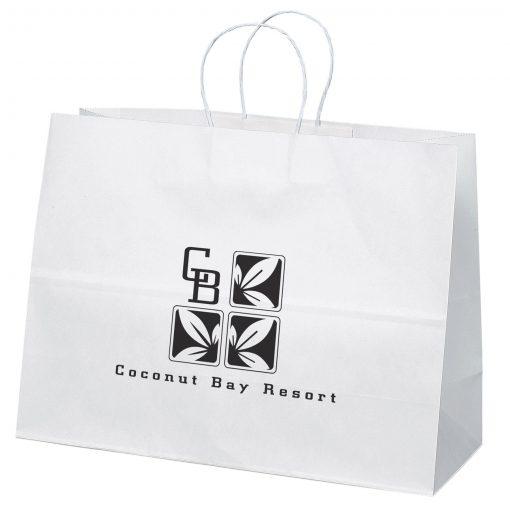 Vogue White Shopper Bag (Flexo Ink)