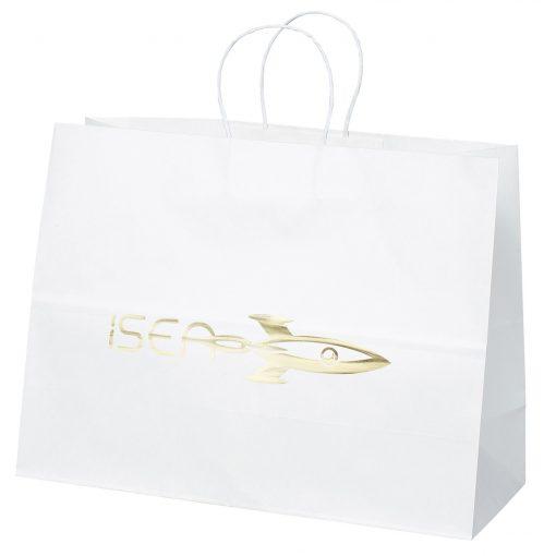 Vogue White Shopper Bag (Foil)