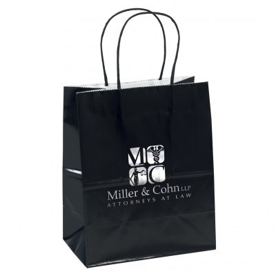 Amanda™ Gloss Shopper Bag (Black)