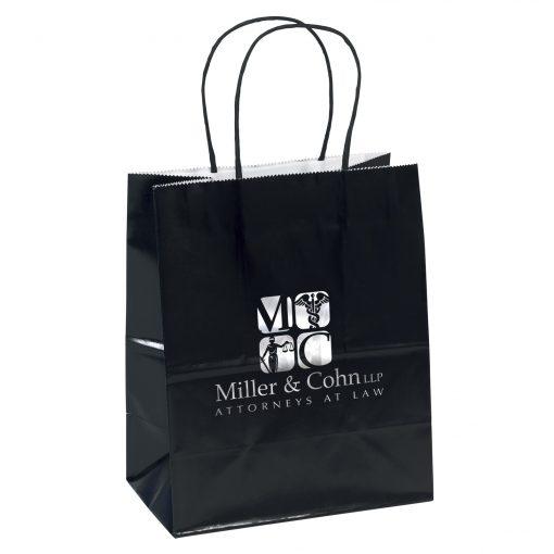 Amanda™ Gloss Shopper Bag (Black)