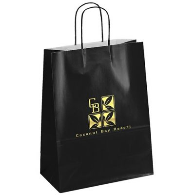 Amber™ Gloss Shopper Bag (Black)