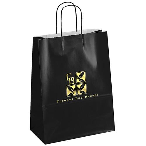 Amber™ Gloss Shopper Bag (Black)