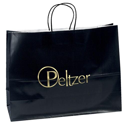 Aubrie™ Gloss Shopper Bag (Black)